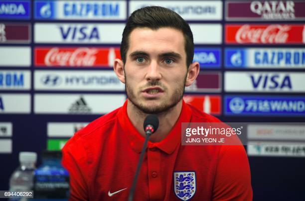 England's player Lewis Cook speaks during a press conference ahead of the U20 World Cup final football match between Venezuela and England in Suwon...
