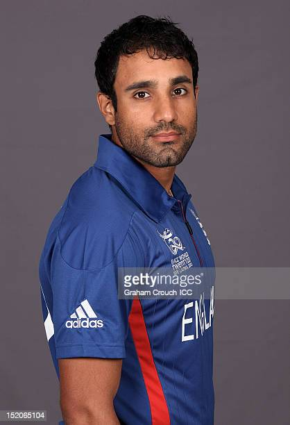 England's Ravi Bopara poses at a portrait session ahead of the opening of the ICC T20 World Cup on September 16 2012 in Colombo Sri Lanka