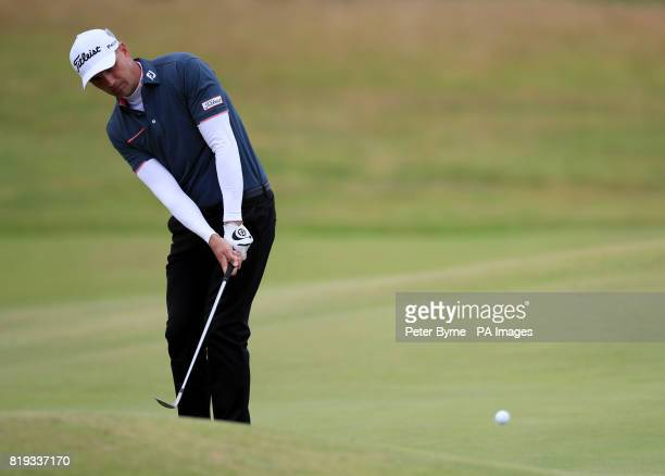 England's Robert Dinwiddie plays from the 4th fairway during day one of The Open Championship 2017 at Royal Birkdale Golf Club Southport