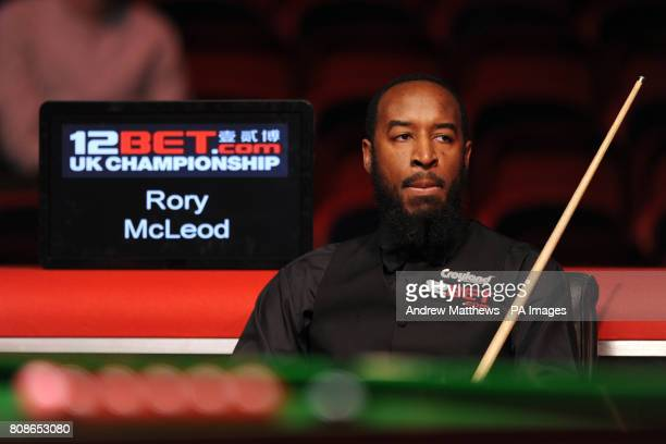 England's Rory McLeod during his match against Australia's Neil Robertson during the 12BetCom UK Championships at the Telford International Centre...
