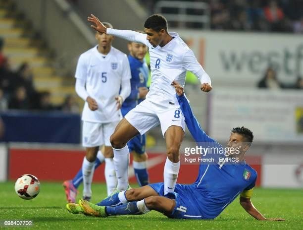 England's Ruben LoftusCheek and Italy's Pellegrini Lorenzo battle for the ball