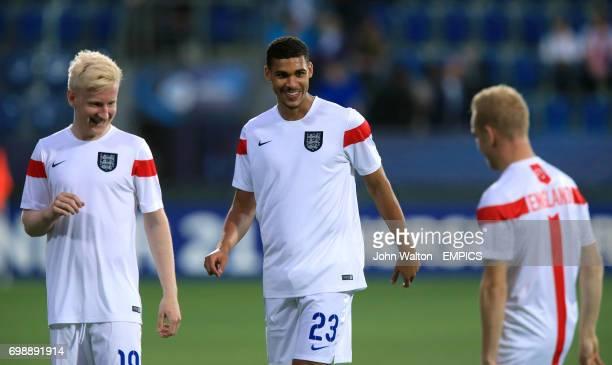 England's Ruben LoftusCheek and Will Hughes during the warm up