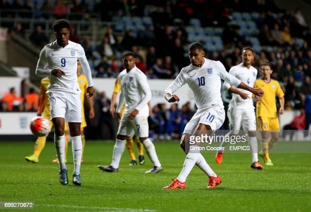 England's Ruben LoftusCheek scores his sides first goal of the game