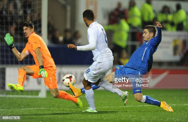England's Ruben LoftusCheek scores his sides third goal of the game against Italy