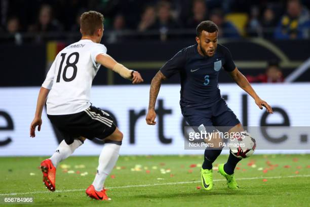 England's Ryan Bertrand and Germany's Joshua Kimmich battle for the ball
