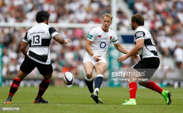 England's Sam Underhill during the Old Mutal Wealth Cup match at Twickenham Stadium London