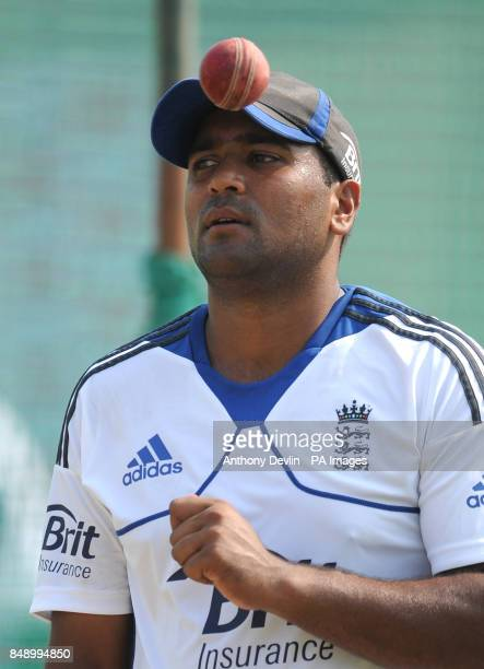 England's Samit Patel during a nets practice session at the Sardar Patel Stadium Ahmedabad India
