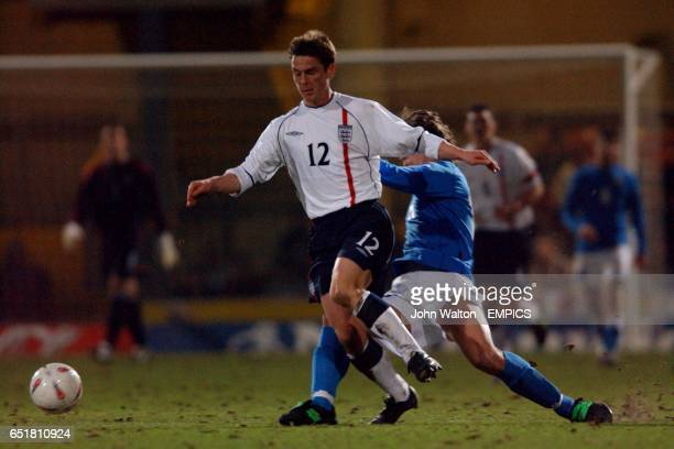 England's Scott Parker loses the ball