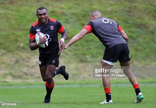 England's Semesa Rokoduguni during the training session at Pennyhill Park Bagshot