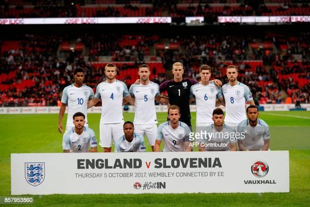 England's starting XI England's striker Marcus Rashford England's midfielder Eric Dier England's defender Gary Cahill England's goalkeeper Joe Hart...