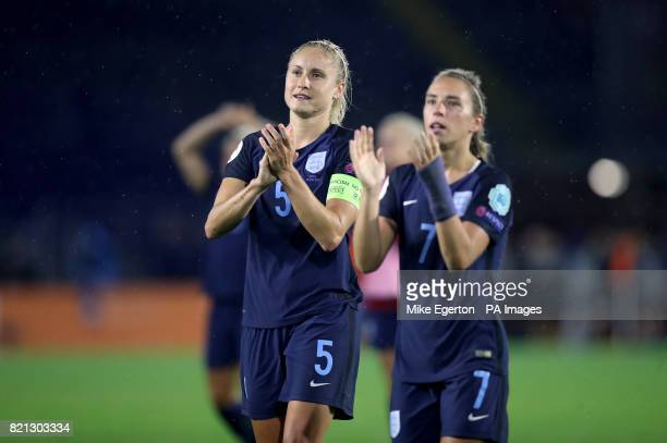 England's Steph Houghton celebrates after the final whistle during the UEFA Women's Euro 2017 Group D match at the Rat Verlegh Stadium Breda