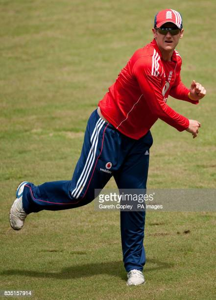 England's Steve Davies during a nets session at St Marys Sports Ground Port of Spain Trinidad