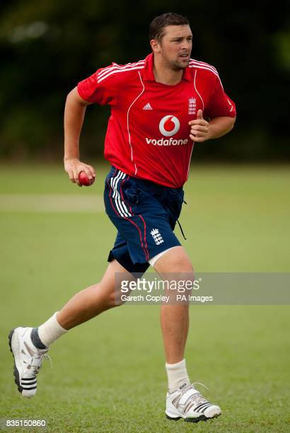 England's Steve Harmsion during a nets session at St Marys Sports Ground Port of Spain Trinidad