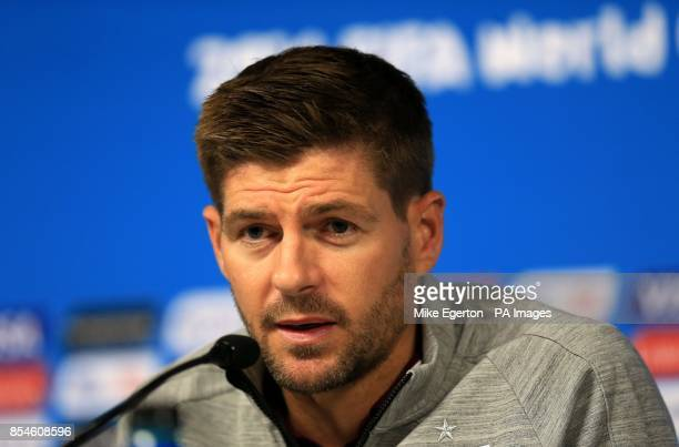 England's Steven Gerrard during a press conference at the Estadio do Sao Paulo Sao Paulo Brazil