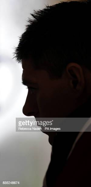 England's Steven Gerrard speaks to the media during a Press Conference at the Grove Hotel Hertfordshire