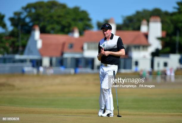 England's Steven Tiley during day two of the 2013 Open Championship at Muirfield Golf Club East Lothian