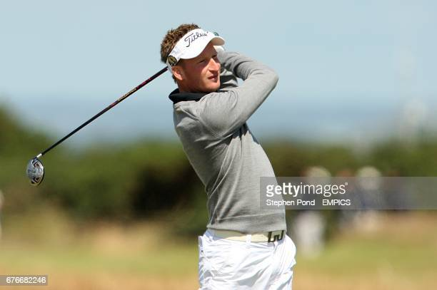 England's Steven Tiley in action during practice round two of The Open Championship 2010 at St Andrews