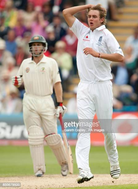 England's Stuart Broad during day two of the first npower Test match at Sophia Gardens Cardiff