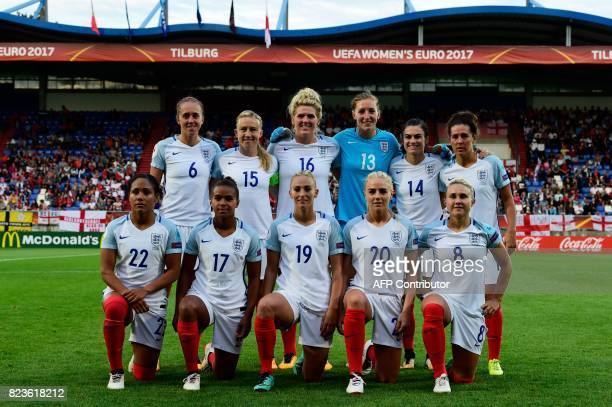 England's team members Alex Scott Nikita Parris Toni Duggan Alex Greenwood Isobel Christiansen Josanne Potter Laura Bassett Millie Bright Siobhan...