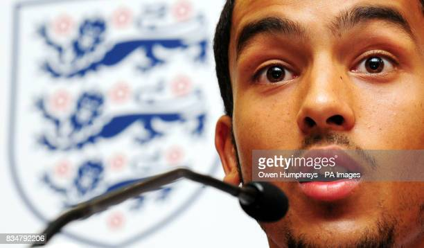 England's Theo Walcott during a press conference at the Grand Marina Hotel Barcelona Spain