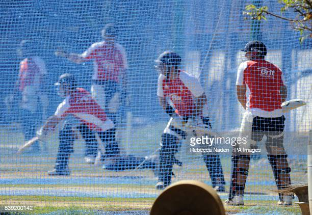 England's Tim Bresnan bats during the nets session at the Chidambaram Stadium Chennai India