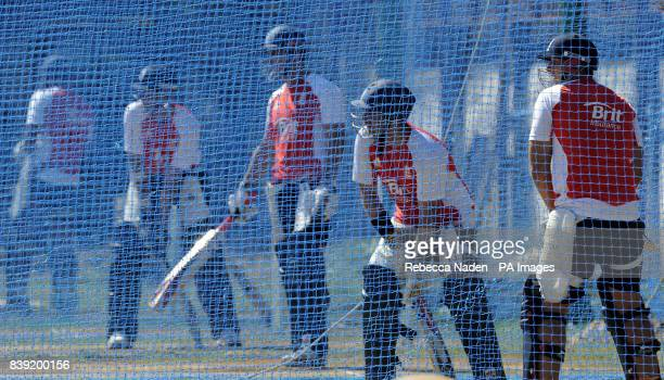 England's Tim Bresnan during the nets session at the Chidambaram Stadium Chennai India