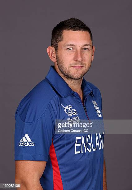 England's Tim Bresnan poses at a portrait session ahead of the opening of the ICC T20 World Cup on September 16 2012 in Colombo Sri Lanka