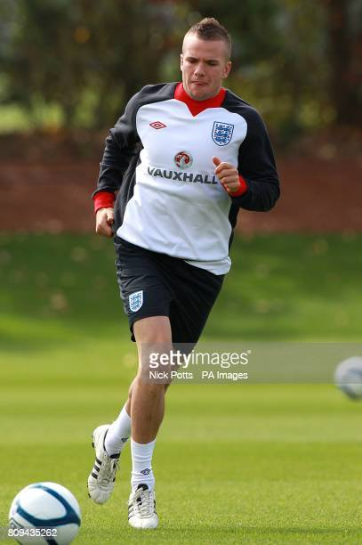 England's Tom Cleverley during the training session