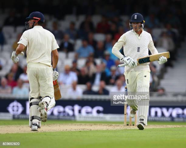 England's Tom Westley during the International Test Match Series Day One match between England and South Africa at The Kia Oval Ground in London on...