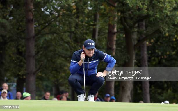 England's Tyrell Hatton on the 5th during day three of the British Masters at Close House Golf Club Newcastle