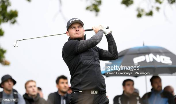 England's Tyrell Hatton tees off during day two of the British Masters at Close House Golf Club Newcastle