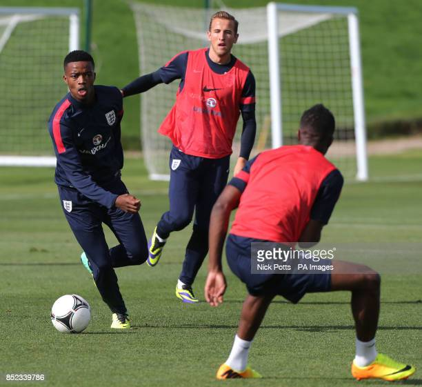 England's U21 player Nathaniel Chalobah during a training session at St George's Park Burton