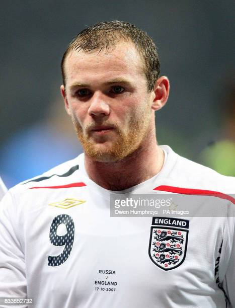 England's Wayne Rooney during the UEFA European Championship qualifying match at the Luzhiniki Stadium Moscow Russia