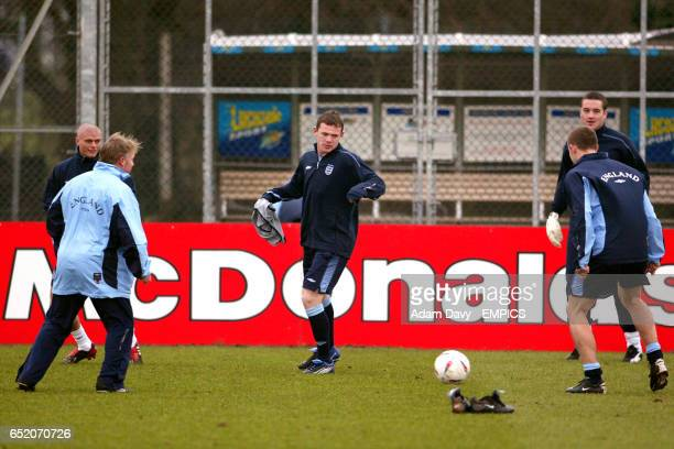 England's Wayne Rooney in a fiveaside kick about