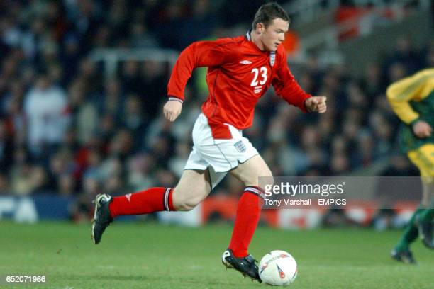 England's Wayne Rooney in action on his debut against Australia