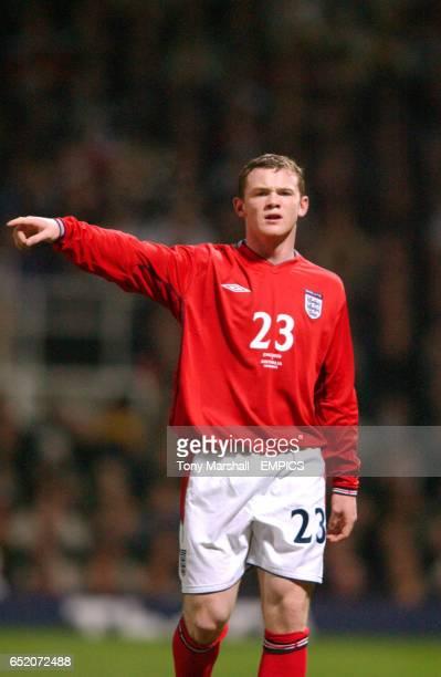 England's Wayne Rooney on his debut against Australia