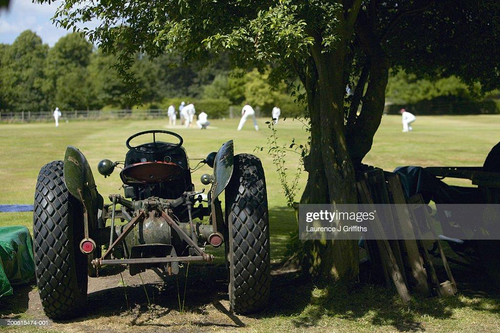 England,Warwickshire, cricket match at Stoneleigh ground : Stock Photo