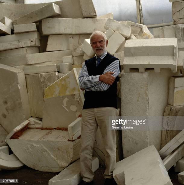 English abstract sculptor Sir Anthony Caro circa 1995