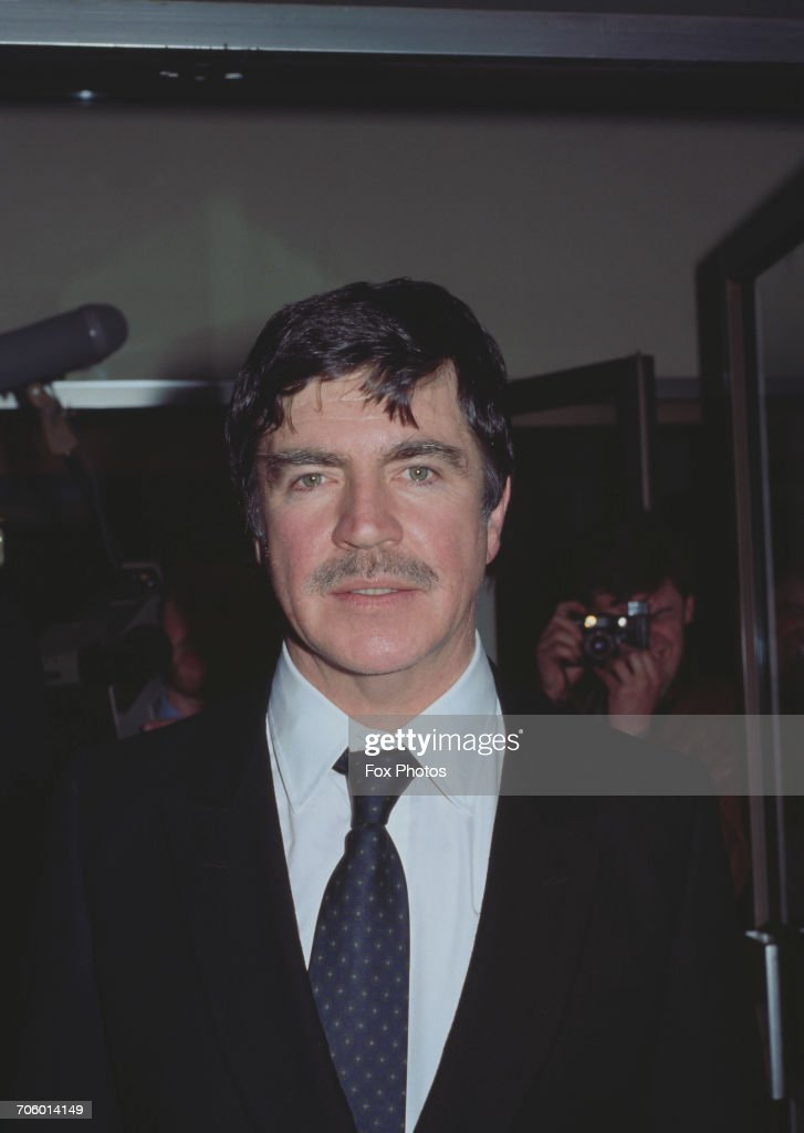 English actor Alan Bates (1934 - 2003) at the premiere of the film 'The Wicked Lady' in Leicester Square, London, 21st April 1983.