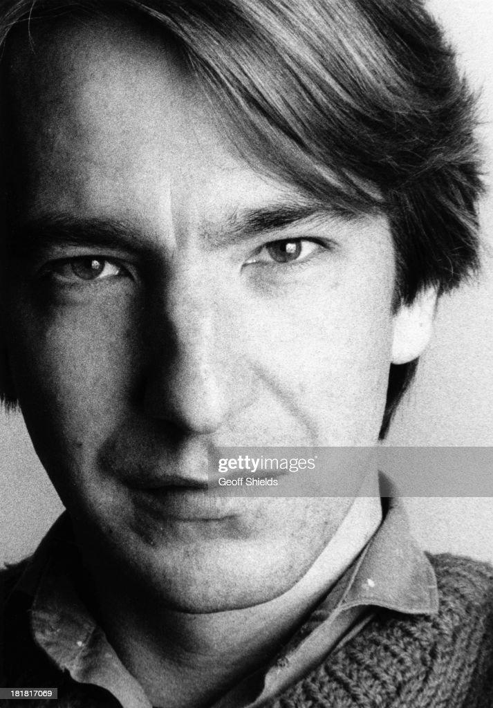 English actor Alan Rickman London 1984