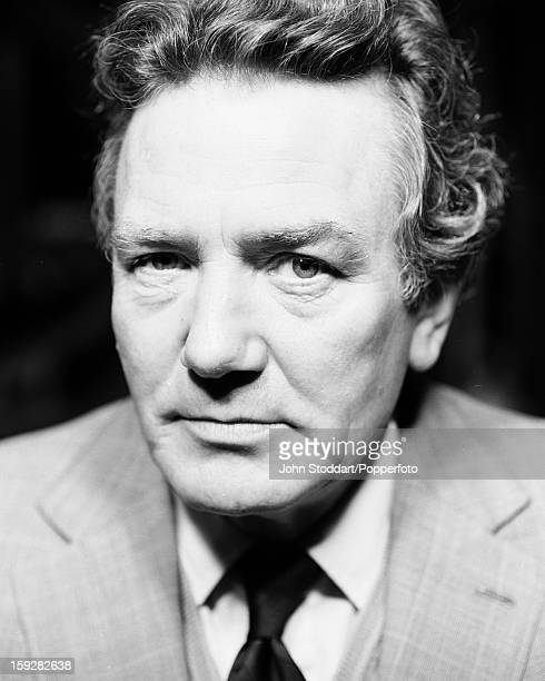 English actor Albert Finney posed in London in 1988