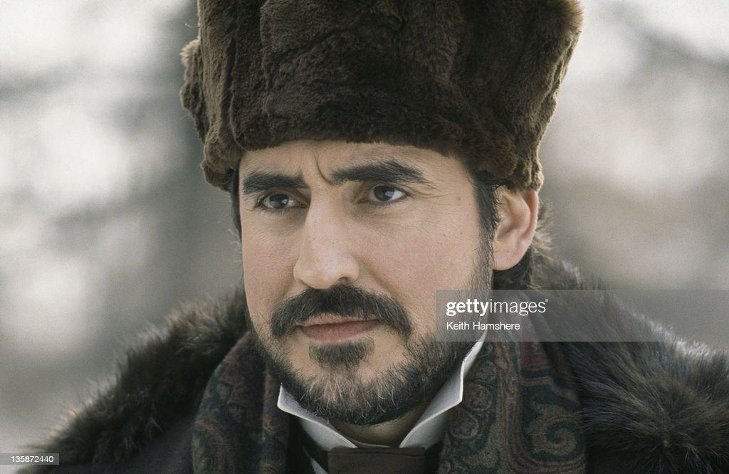 English actor <a gi-track='captionPersonalityLinkClicked' href=/galleries/search?phrase=Alfred+Molina&family=editorial&specificpeople=211218 ng-click='$event.stopPropagation()'>Alfred Molina</a> as Levin in the film 'Leo Tolstoy's Anna Karenina', 1997. The movie was filmed on location in Russia.