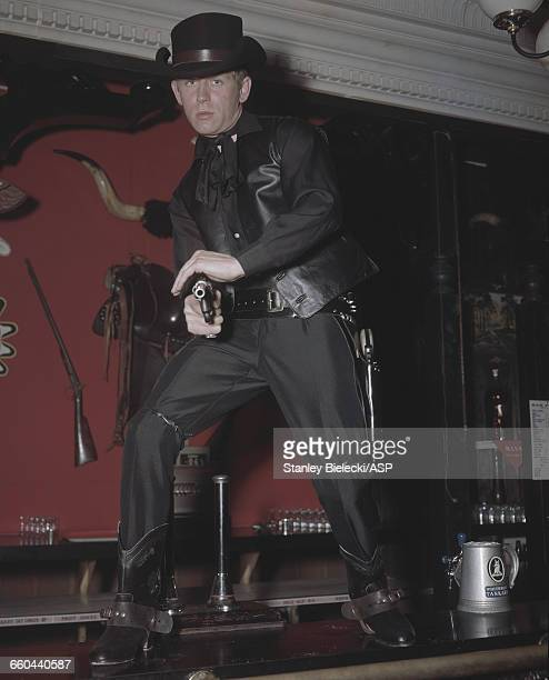 English actor and singer John Leyton in the Wild West fantasy sequence from the British musical comedy film 'Every Day's a Holiday' aka 'Seaside...