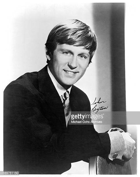 English actor and singer John Leyton poses for a portrait in circa 1966