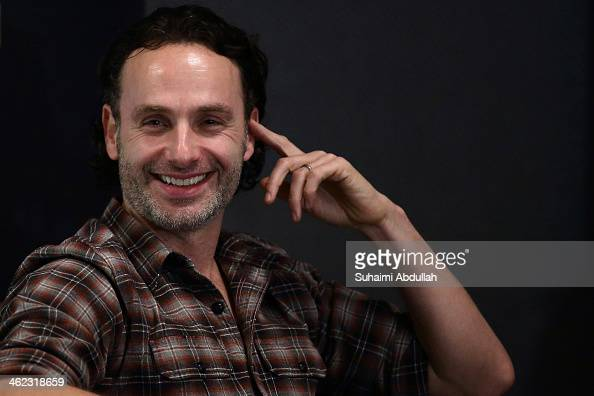English actor and Walking Dead star Andrew Lincoln attends the press conference at Fairmont Hotel on January 13 2014 in Singapore