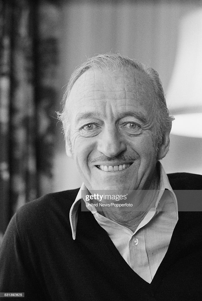 English actor and writer, David Niven (1910-1983) pictured in London on 16th February 1977.