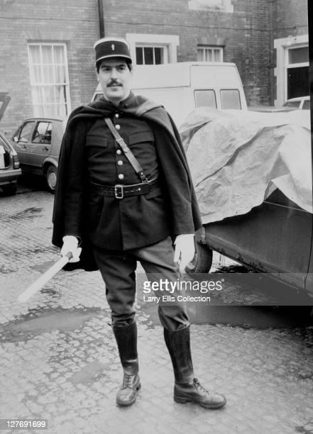 English actor Arthur Bostrom as police officer Crabtree in a publicity still for the British television series ''Allo 'Allo' circa 1985