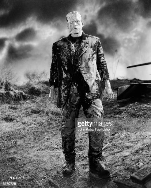 English actor Boris Karloff reprises his role as the monster in 'Bride of Frankenstein' directed by James Whale