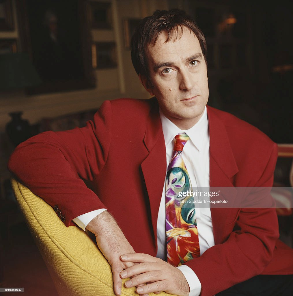 English actor, broadcaster and comedian Angus Deayton, 1993.