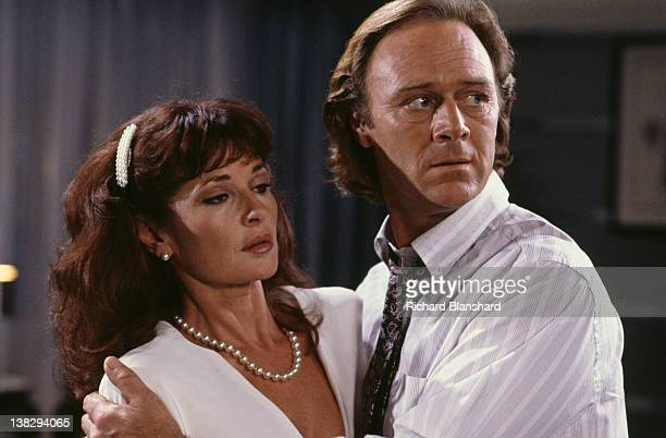 English actor Christopher Cazenove stars with actress Stephanie Beacham in the television miniseries 'To Be The Best' 1992 The series was based on a...